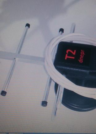 Антенна T2 dnepr комнатная с усилителем 5В