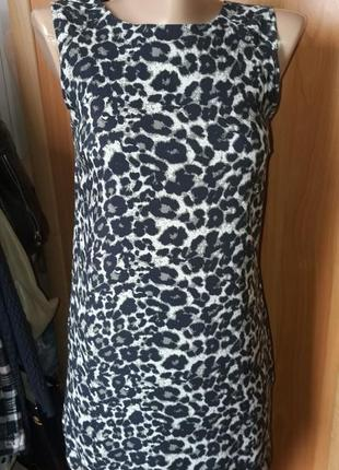 Платье сарафан мини в актуальный принт