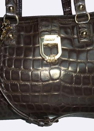 Шикарная большая сумка натуральная кожа dkny