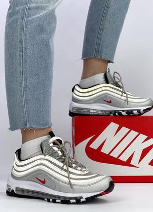 Классические женские кроссовки nike air max 97 silver bullet с...