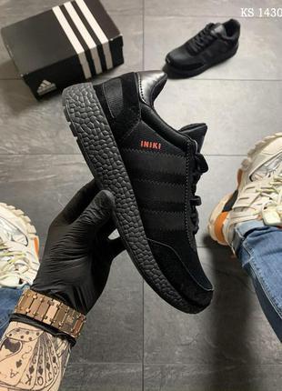 Кроссовки мужские / adidas iniki runner (черные)