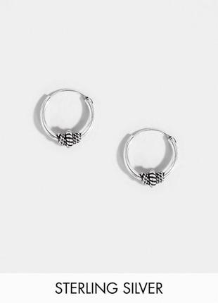 ✨ миниатюрные серьги колечки с подвесками стерлинговое серебро...