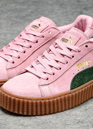 Puma Rihanna Fenty Suede Creepers Pink/Green