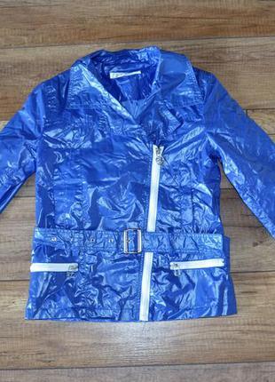 Куртка косуха ветровка девочке 128-140 см, 8-10 лет