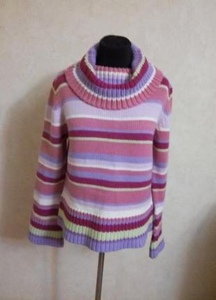 Теплющий яркий свитер, р.18(52-54) !!!
