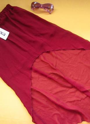 Новая стильная юбка со шлейфом, р.140-146 на 10-11 лет,сток,ne...