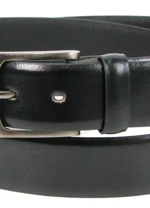 Мужской кожаный ремень под брюки Always Wild черный 3,4 см