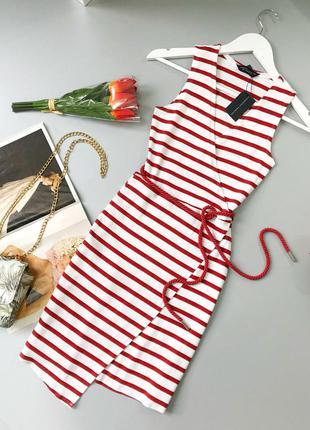 Z111 стильное платье миди на запах в рубчик с поясом dorothy p...