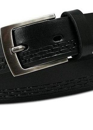 Мужской ремень для брюк из кожи Always Wild черный 3 см