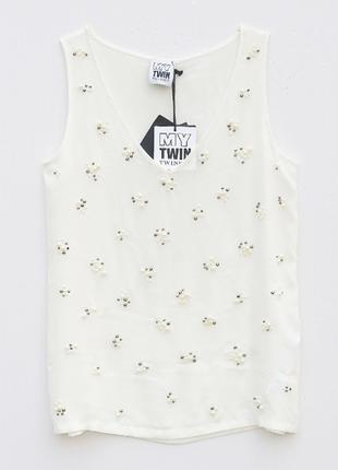 Белая блузка топ Twinset
