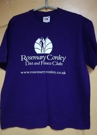 Оригинальная футболка  фиолетового сочного цвета р.L
