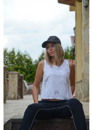Белая блузка топ Forever 21 с открытой спинкой размеры M L
