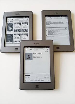 Amazon Kindle Touch 6'' Электронная книга Wi-Fi, сенсорная, МP3)
