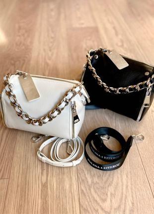 Женская кожаная сумка. Кожаный клатч. Polina&Eiterou
