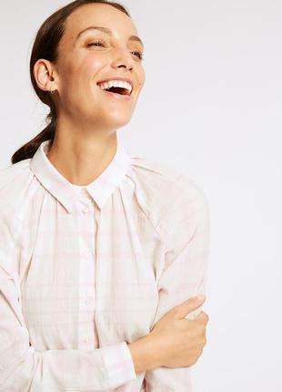 Рубашка из натуральной жатой ткани marks&spencer сорочка в ніж...