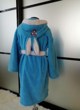 Детский махровый халат с ушками 8-10 лет. есть цвета и размеры.