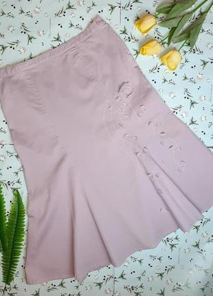 🎁1+1=3 сиреневая плотная нарядная юбка ниже колен миди joanna ...
