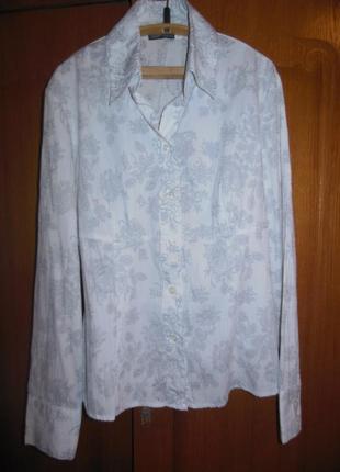 Рубашка с цветочным принтом, р.48