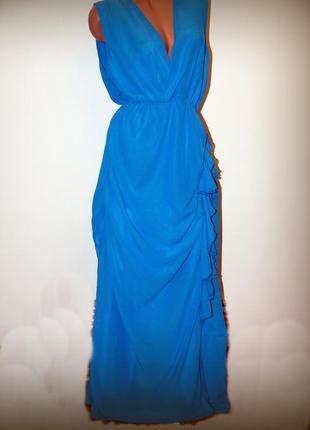 Платье в пол, небесный цвет, шифон, воздушное, новое! цена на ...