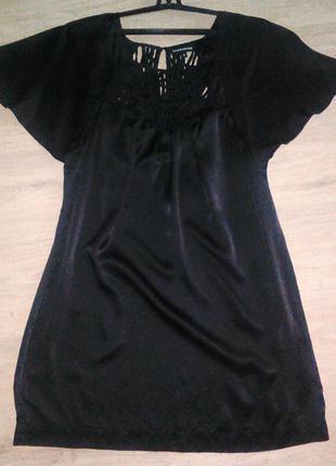 чёрное шёлковое платье, маленькое чёрное платье 100 шёлк