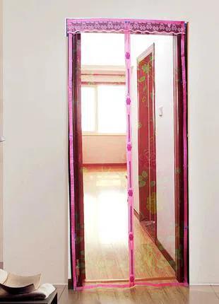 Антимоскитная сетка штора на дверь на магнитах Magic mesh