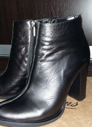 Ботильены, ботинки осень-весна,  кожа,размер 36