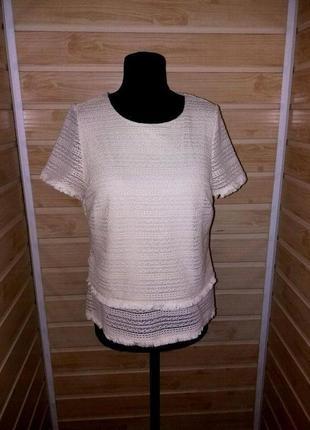 Стильная фактурная блузка р.m-l m&s