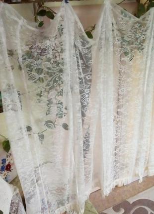 Набор штор из 4 штук 5 метров 50 см/штора/тюль/занавеска