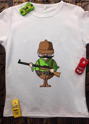Мужская футболка с принтом для охотников