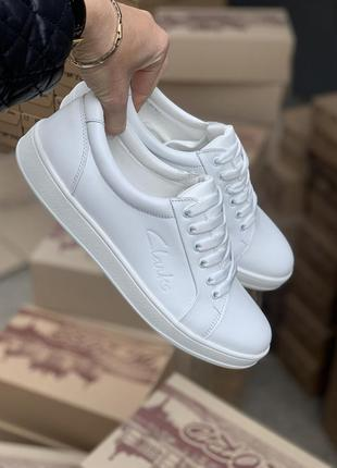 Женские кеды белые кожаные
