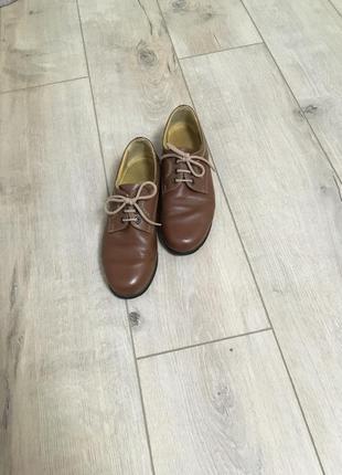 Кожаные туфли со шнурками