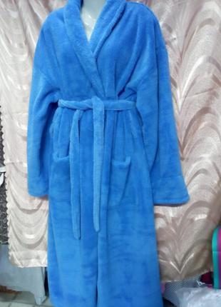 Махровый халат большой размер.