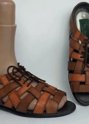 Итальянские кожаные босоножки, сандалии