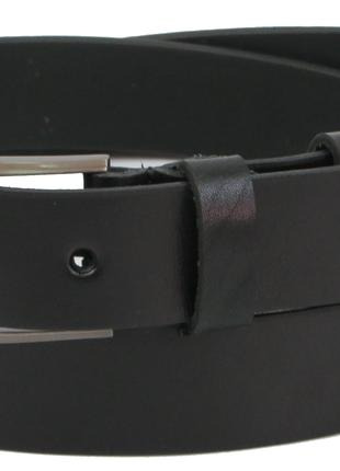 Мужской ремень под брюки из кожи Skipper 1301-33 черный