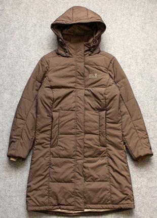 Утепленная куртка-пальто jack wolfskin