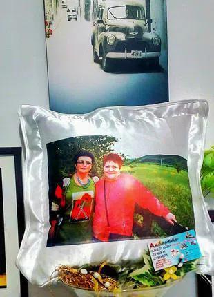Подушка с фото, фотоподушка, принт на подушку, подарок