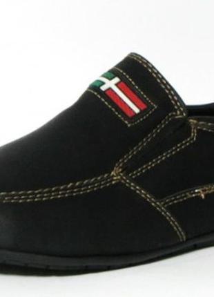 Школьные черные туфли туфлі мокасини для мальчика хлопчика 116...