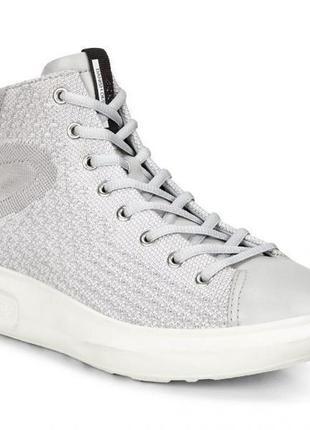 Ботинки ecco soft 3 221513 оригінал натуральна шкіра і текстиль