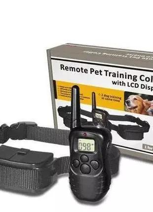 Электроошейник PET998D для дрессировки собак с ЖК-дисплеем