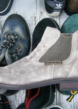 Ботинки boots and shoes оригінал замш натуральний