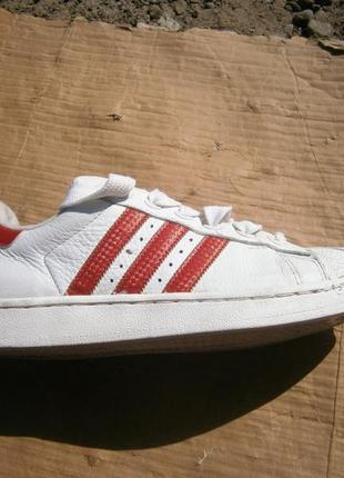 Кеди vintage adidas originals superstar sneakers / white red l...