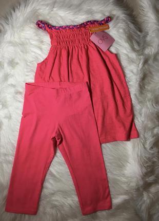 Новый летний костюм для девочки 4-5 лет, шортики для девочки 1...