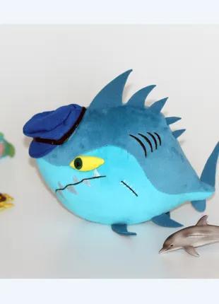 Акула прикольная смешная игрушка.