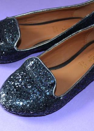 Блестящие туфли балетки moonsoon