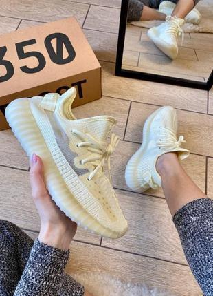 Кроссовки adidas yeezy boost 350 v2 light yellow