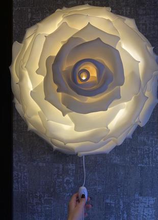 Ночник светильник роза на стену, бра в детскую