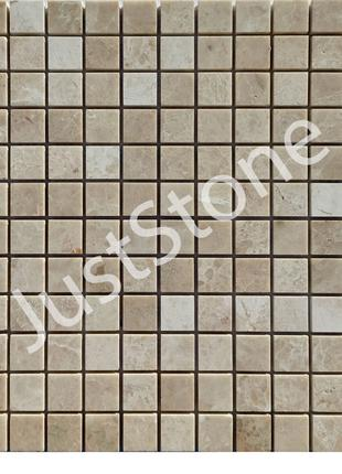 Кремовая-New Мозаика из мрамора Полированная МКР-2П (23х23)