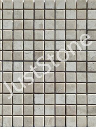 Кремовая-New Мозаика из мрамора Матовая МКР-2СВ (23х23)