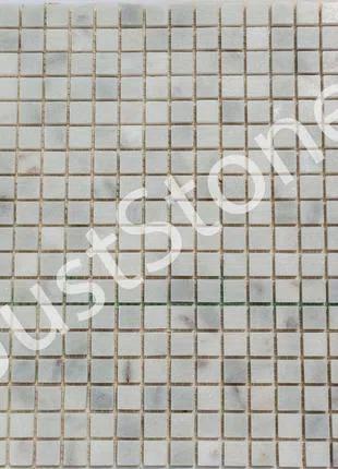 Бело-серая Мраморная Мозаика Полированная МКР-4П (15х15)
