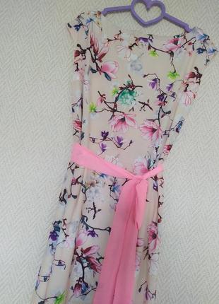 Цветочное платье макси  р.м-л